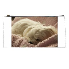 Maltese Sleeping Pencil Cases