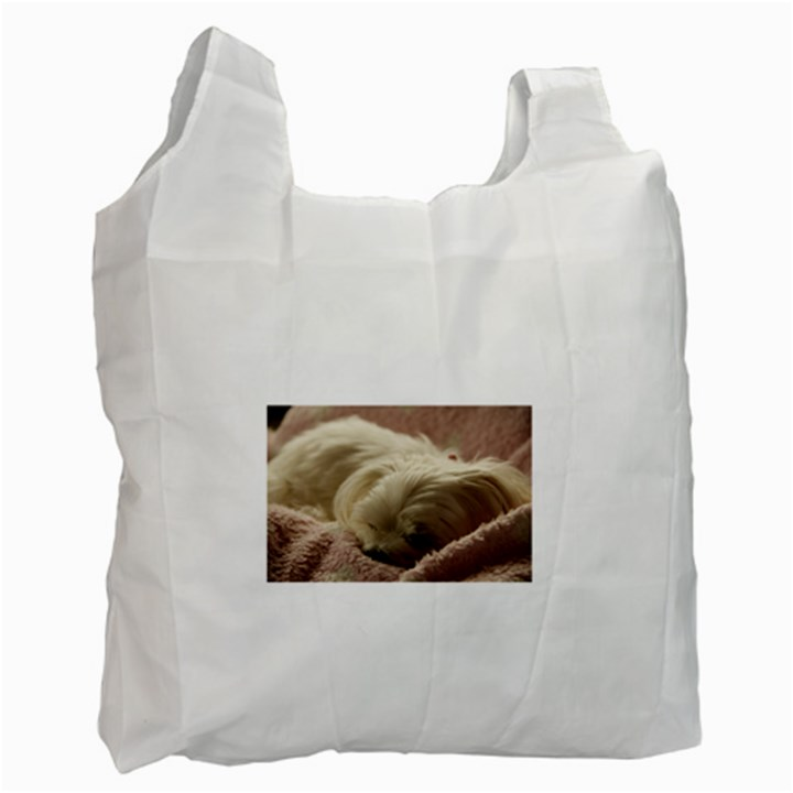 Maltese Sleeping Recycle Bag (One Side)