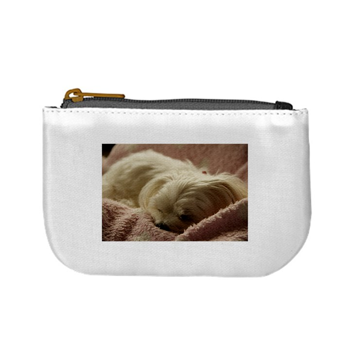 Maltese Sleeping Mini Coin Purses