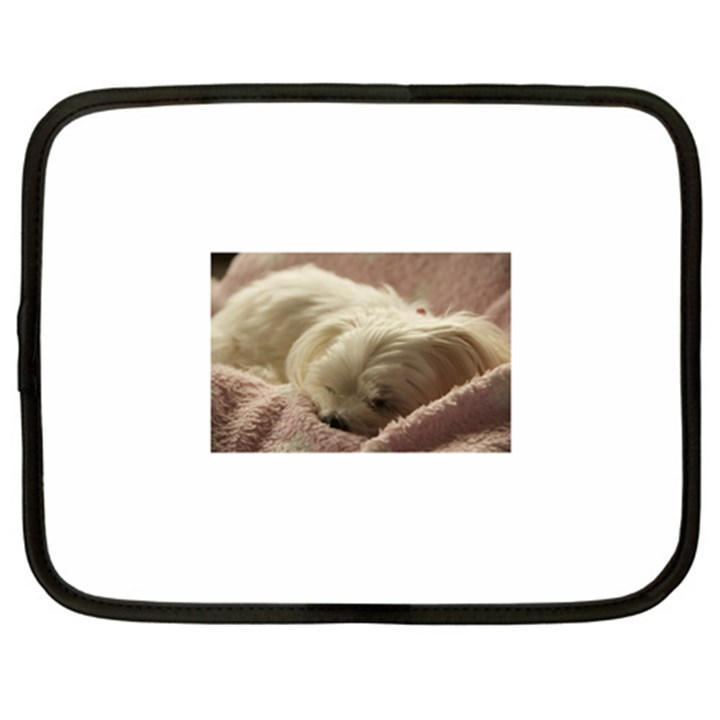 Maltese Sleeping Netbook Case (XL)