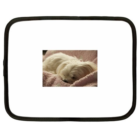 Maltese Sleeping Netbook Case (XXL)