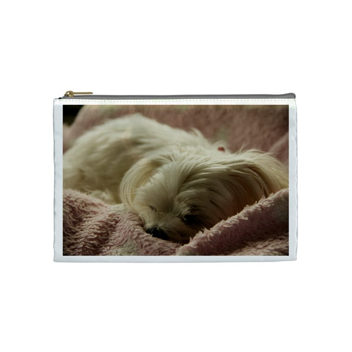Maltese Sleeping Cosmetic Bag (Medium)