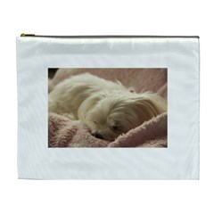 Maltese Sleeping Cosmetic Bag (XL)