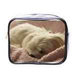 Maltese Sleeping Mini Toiletries Bags Front