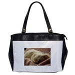 Maltese Sleeping Office Handbags Front
