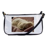 Maltese Sleeping Shoulder Clutch Bags Front