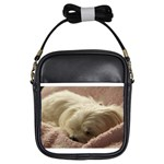Maltese Sleeping Girls Sling Bags Front