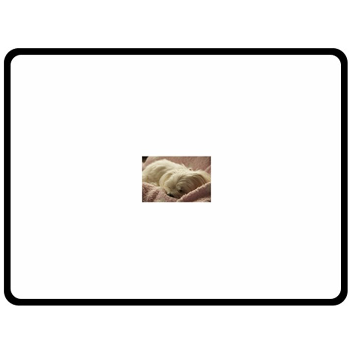 Maltese Sleeping Fleece Blanket (Large)
