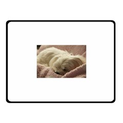 Maltese Sleeping Fleece Blanket (Small)