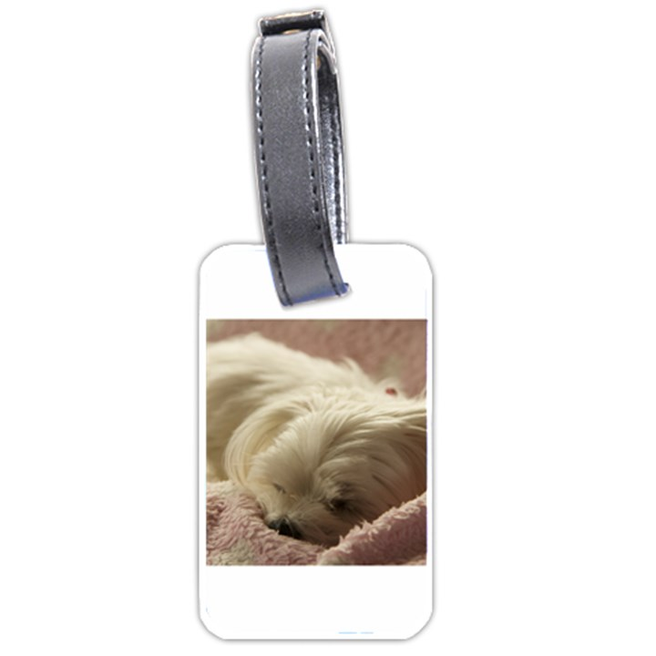 Maltese Sleeping Luggage Tags (One Side)