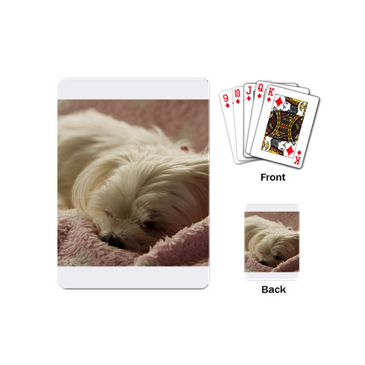Maltese Sleeping Playing Cards (Mini)