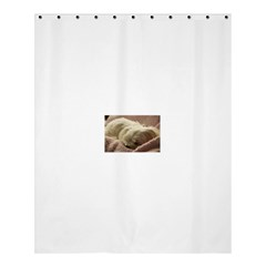 Maltese Sleeping Shower Curtain 60  x 72  (Medium)