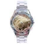 Maltese Sleeping Stainless Steel Analogue Watch Front