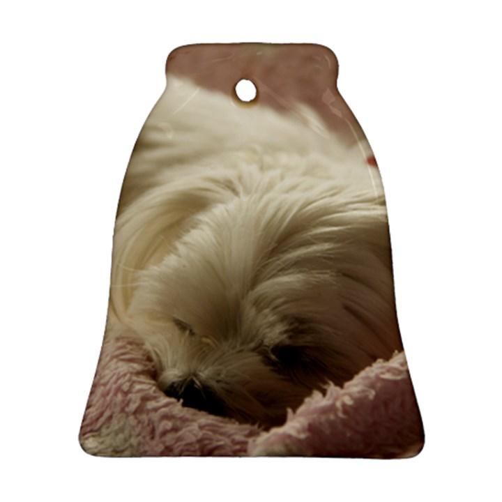 Maltese Sleeping Ornament (Bell)