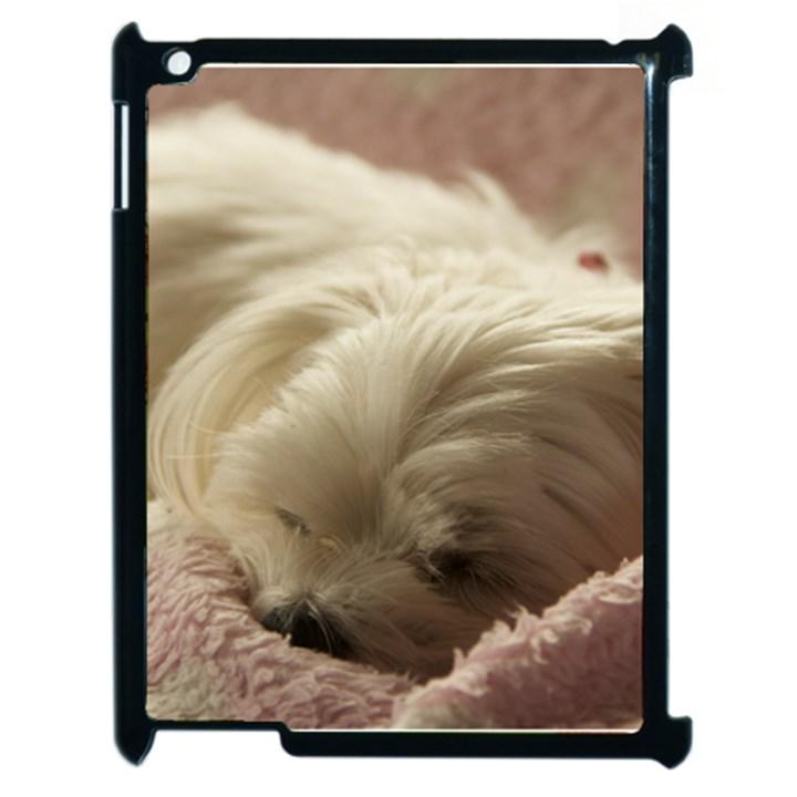Maltese Sleeping Apple iPad 2 Case (Black)
