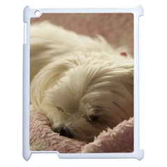 Maltese Sleeping Apple iPad 2 Case (White)