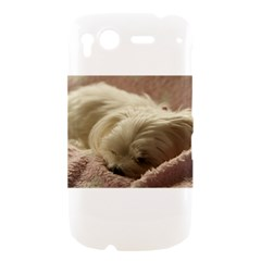 Maltese Sleeping HTC Desire S Hardshell Case