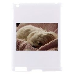 Maltese Sleeping Apple iPad 2 Hardshell Case (Compatible with Smart Cover)