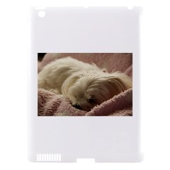 Maltese Sleeping Apple iPad 3/4 Hardshell Case (Compatible with Smart Cover)
