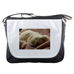 Maltese Sleeping Messenger Bags