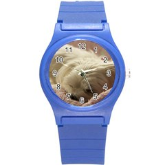 Maltese Sleeping Round Plastic Sport Watch (S)