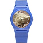 Maltese Sleeping Round Plastic Sport Watch (S) Front