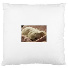 Maltese Sleeping Large Cushion Case (One Side)