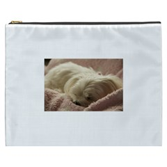 Maltese Sleeping Cosmetic Bag (XXXL)