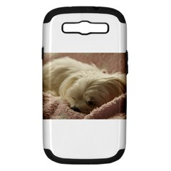 Maltese Sleeping Samsung Galaxy S III Hardshell Case (PC+Silicone)