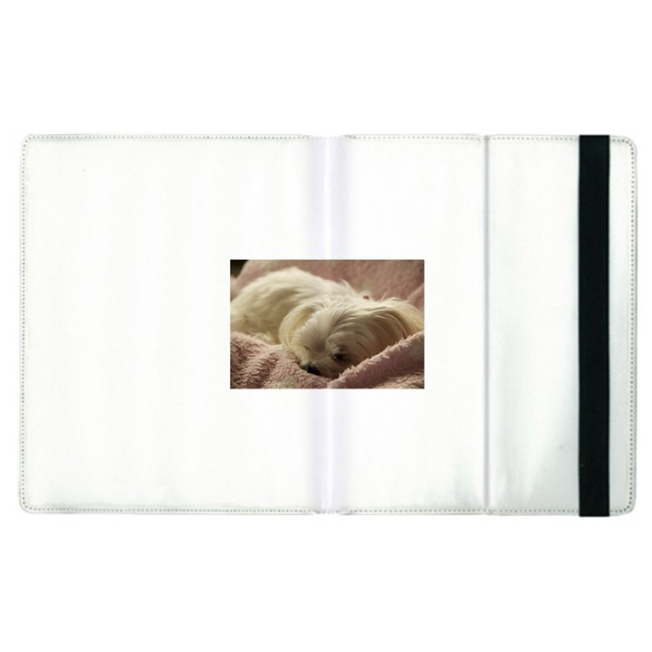 Maltese Sleeping Apple iPad 3/4 Flip Case