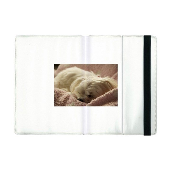 Maltese Sleeping Apple iPad Mini Flip Case