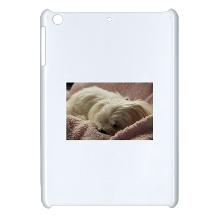 Maltese Sleeping Apple iPad Mini Hardshell Case