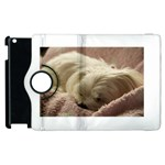 Maltese Sleeping Apple iPad 2 Flip 360 Case Front