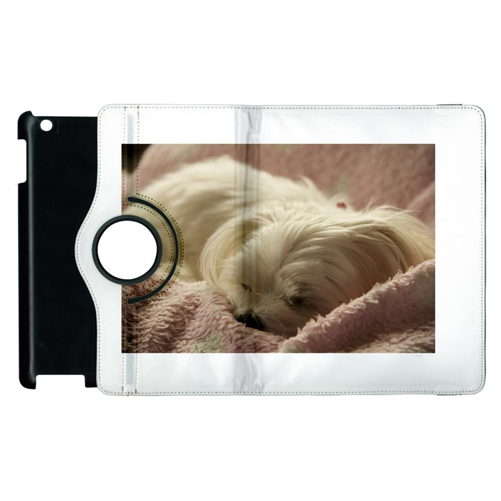 Maltese Sleeping Apple iPad 2 Flip 360 Case