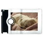 Maltese Sleeping Apple iPad 3/4 Flip 360 Case Front