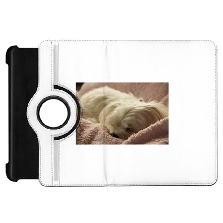 Maltese Sleeping Kindle Fire HD Flip 360 Case