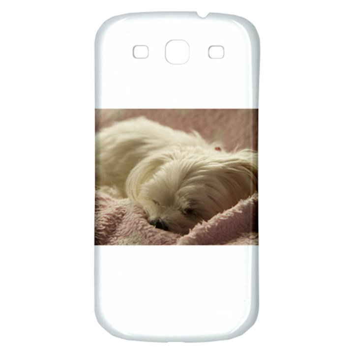 Maltese Sleeping Samsung Galaxy S3 S III Classic Hardshell Back Case