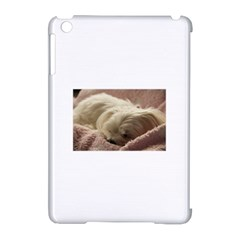 Maltese Sleeping Apple iPad Mini Hardshell Case (Compatible with Smart Cover)