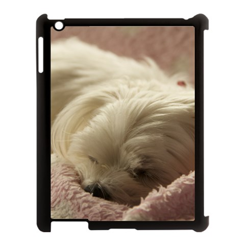 Maltese Sleeping Apple iPad 3/4 Case (Black)