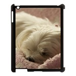 Maltese Sleeping Apple iPad 3/4 Case (Black) Front