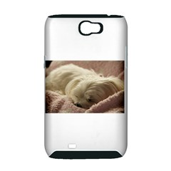 Maltese Sleeping Samsung Galaxy Note 2 Hardshell Case (PC+Silicone)