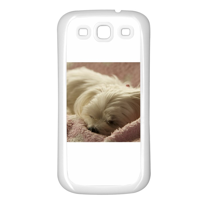 Maltese Sleeping Samsung Galaxy S3 Back Case (White)