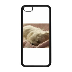 Maltese Sleeping Apple iPhone 5C Seamless Case (Black)