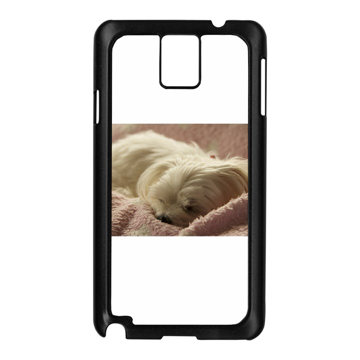 Maltese Sleeping Samsung Galaxy Note 3 N9005 Case (Black)