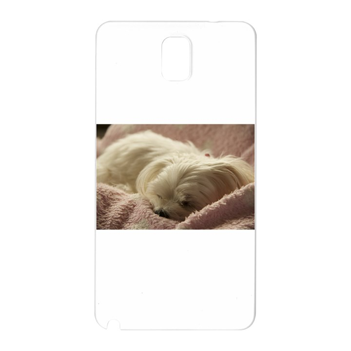 Maltese Sleeping Samsung Galaxy Note 3 N9005 Hardshell Back Case