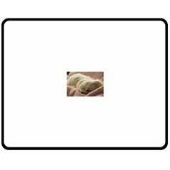 Maltese Sleeping Double Sided Fleece Blanket (Medium)