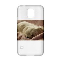 Maltese Sleeping Samsung Galaxy S5 Hardshell Case