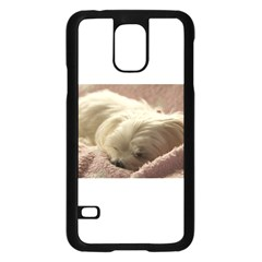 Maltese Sleeping Samsung Galaxy S5 Case (Black)