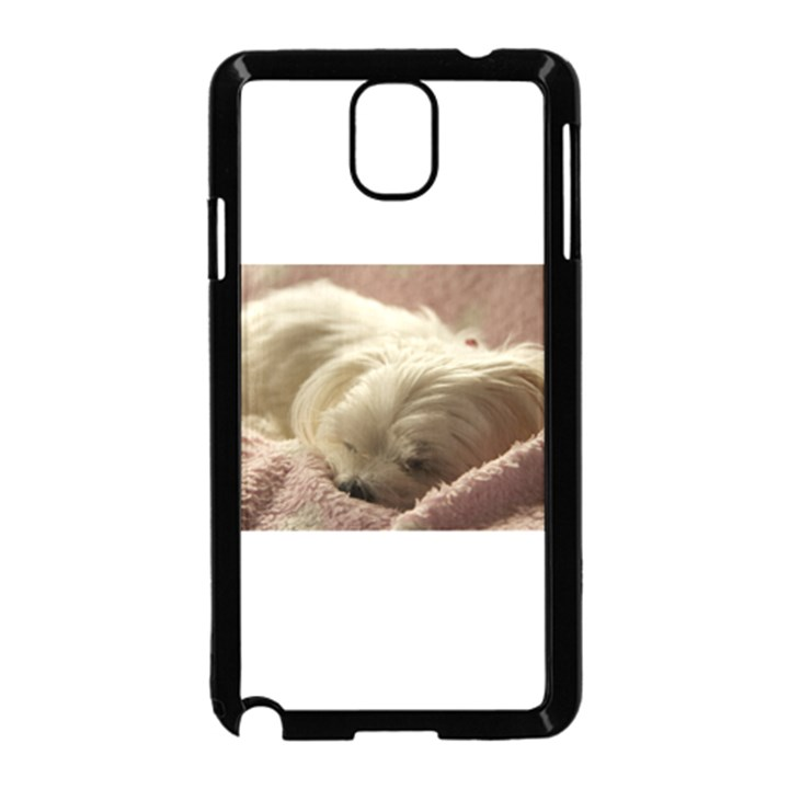 Maltese Sleeping Samsung Galaxy Note 3 Neo Hardshell Case (Black)