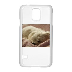 Maltese Sleeping Samsung Galaxy S5 Case (White)